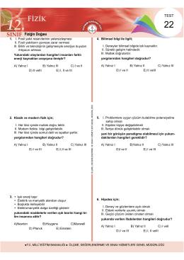 Fiziğin Doğası - Ölçme, Değerlendirme ve Sınav Hizmetleri Genel