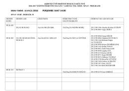 tek-ders-2016 - Akdeniz Üniversitesi Hukuk Fakültesi