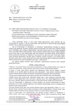 Untitled - kırklareli il millî eğitim müdürlüğü