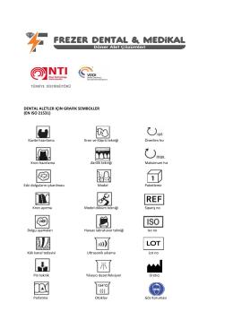dental aletler için semboller (en ıso 21531)