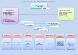 organizasyon şeması idari - Sağlık Bilimleri Fakültesi