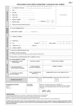 ek-1 sözleşmeli foto dizgi opertörü alımı başvuru formu