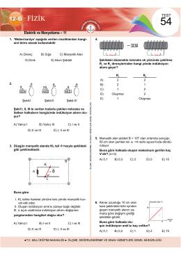 Elektrik ve Manyetizma – 11 - Ölçme, Değerlendirme ve Sınav