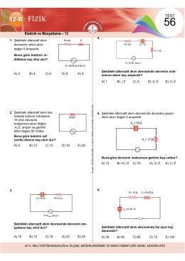 Elektrik ve Manyetizma – 13 - Ölçme, Değerlendirme ve Sınav