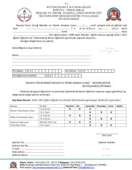 rosvita - timur imrağ mesleki ve teknik anadolu lisesi müdürlüğü