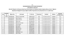 Coğrafya böl. formasyon başvuruları 3. sınıf