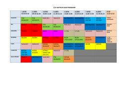 5/a haftalık ders programı 1.ders 2.ders 09.50