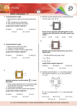 Elektrik ve Manyetizma – 14 - Ölçme, Değerlendirme ve Sınav