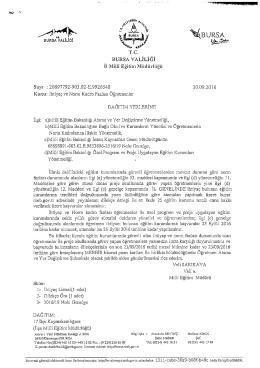 Üst Yazı ve Genelge - bursa il millî eğitim müdürlüğü