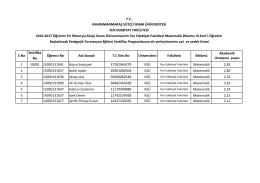 Matematik böl. formasyon başvuruları 3. sınıf
