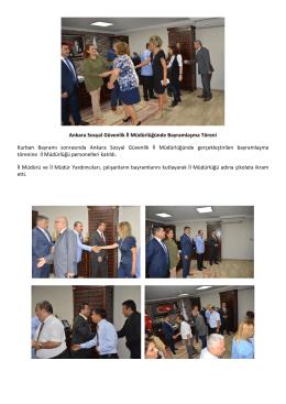 Ankara Sosyal Güvenlik İl Müdürlüğünde Bayramlaşma Töreni