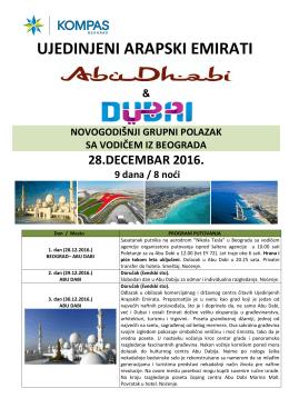 Program putovanja, Abu Dhabi-Dubai