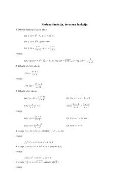 kompozicija i inverzne funkcije