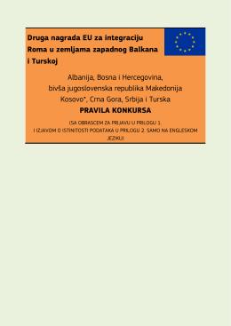 Druga nagrada EU za integraciju Roma u zemljama