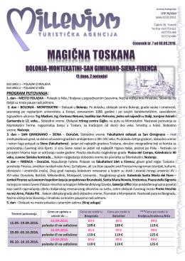 magična toskana - Turistička agencija Marco Polo
