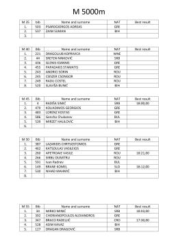 M 5000m - Bamacs 2016