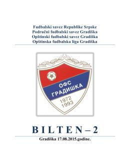 bilten – 2 - OFS Gradiška