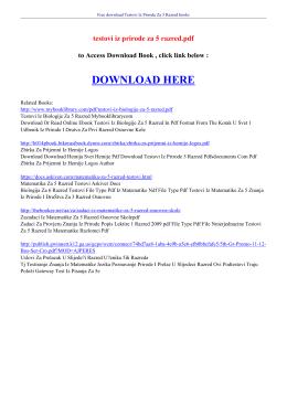 testovi iz prirode za 5 razred pdf