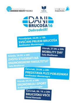 dani-brucosa-agenda. - Podgorica