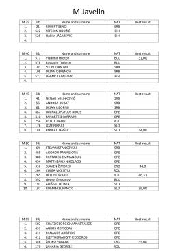 M Javelin - Bamacs 2016