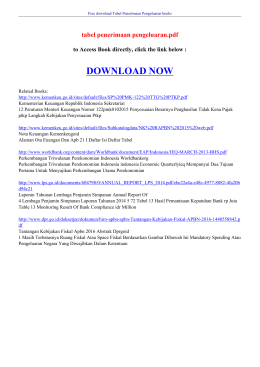 tabel penerimaan pengeluaran pdf