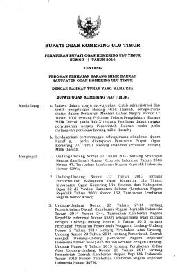 perbup-no-7-tahun-2016 - BPK RI Perwakilan Provinsi Sumatera