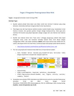 Tugas 1 Pengantar Pemrograman Situs Web