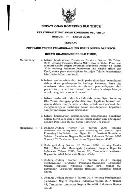 perbup-no-17-tahun-2015 - BPK RI Perwakilan Provinsi Sumatera