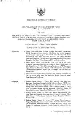 NOMOR\<f TAHUN 2015 - BPK RI Perwakilan Provinsi Sumatera