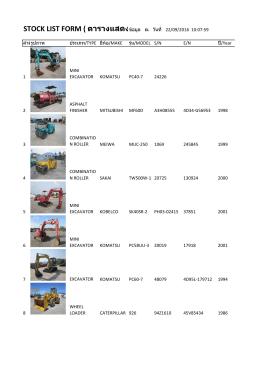 stock list form ( ตารางแสดงรายการสินค
