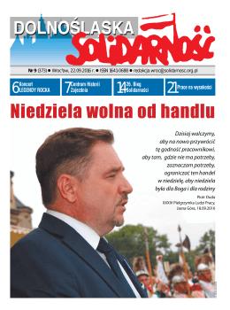 Niedziela wolna od handlu - Region Dolny Śląsk NSZZ Solidarność