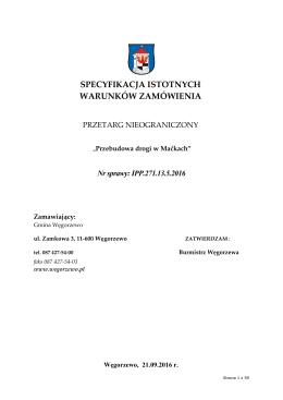 Specyfikacja - Urzędu Miejskiego w Węgorzewie