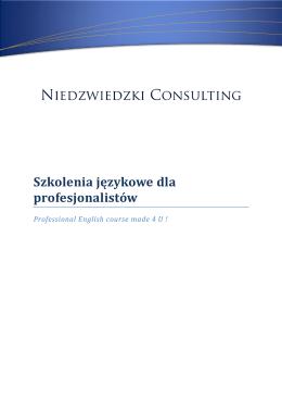 Sprawdź: Oferta Szkolenia Językowe Niedzwiedzki Consulting PDF