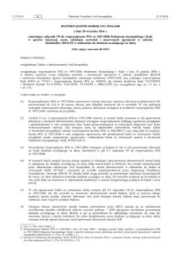 ROZPORZĄDZENIE KOMISJI (UE) 2016/1688 z dnia 20