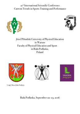 program konferencji - AWF Biała Podlaska