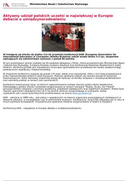 Aktywny udział polskich uczelni w największej w Europie debacie o