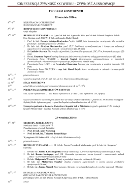 Skorygowany program konferencji