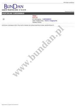 uszczelka 118550680/0