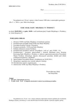 Świdnica, dnia 22.09.2016 r. BRM.0002.8.2016 Pan/i