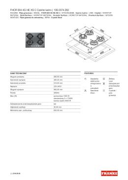 FHCR 604 4G HE XS C Czarne lustro | 106.0374.282