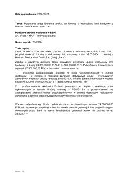Data sporządzenia: 2016-09-21 Temat: Podpisanie