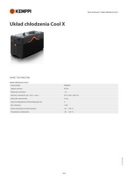 Dane techniczne / Układ chłodzenia Cool X