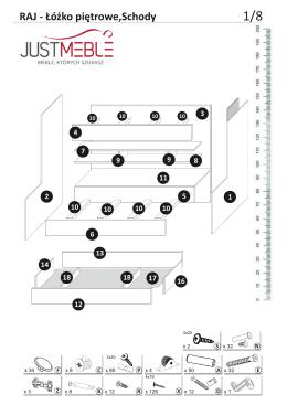 Raj - Łóżko piętrowe+Schody - instrukcja montażu-005