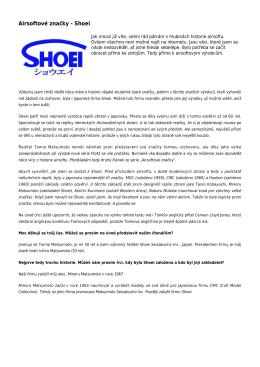 Airsoftové značky - Shoei