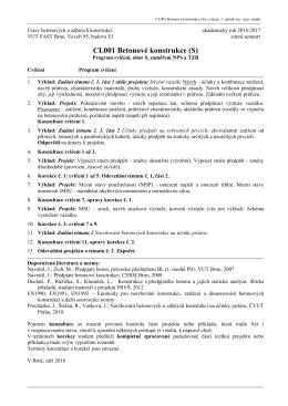 CL001 Betonové konstrukce (S)