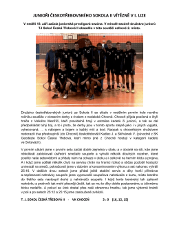 Volejbaloví junioři TJ Sokol II vyhráli úvodní zápasy