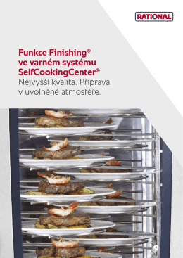 Funkce Finishing® ve varném systému SelfCookingCenter
