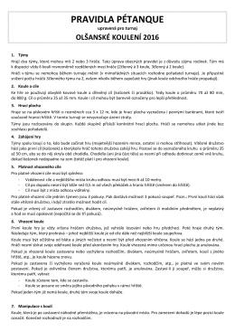 pravidla pétanque