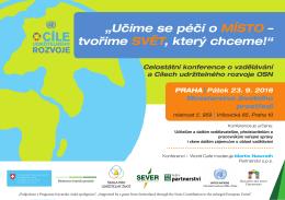 Program - Ministerstvo životního prostředí