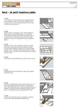 Návod - Jak položit laminátovou podlahu